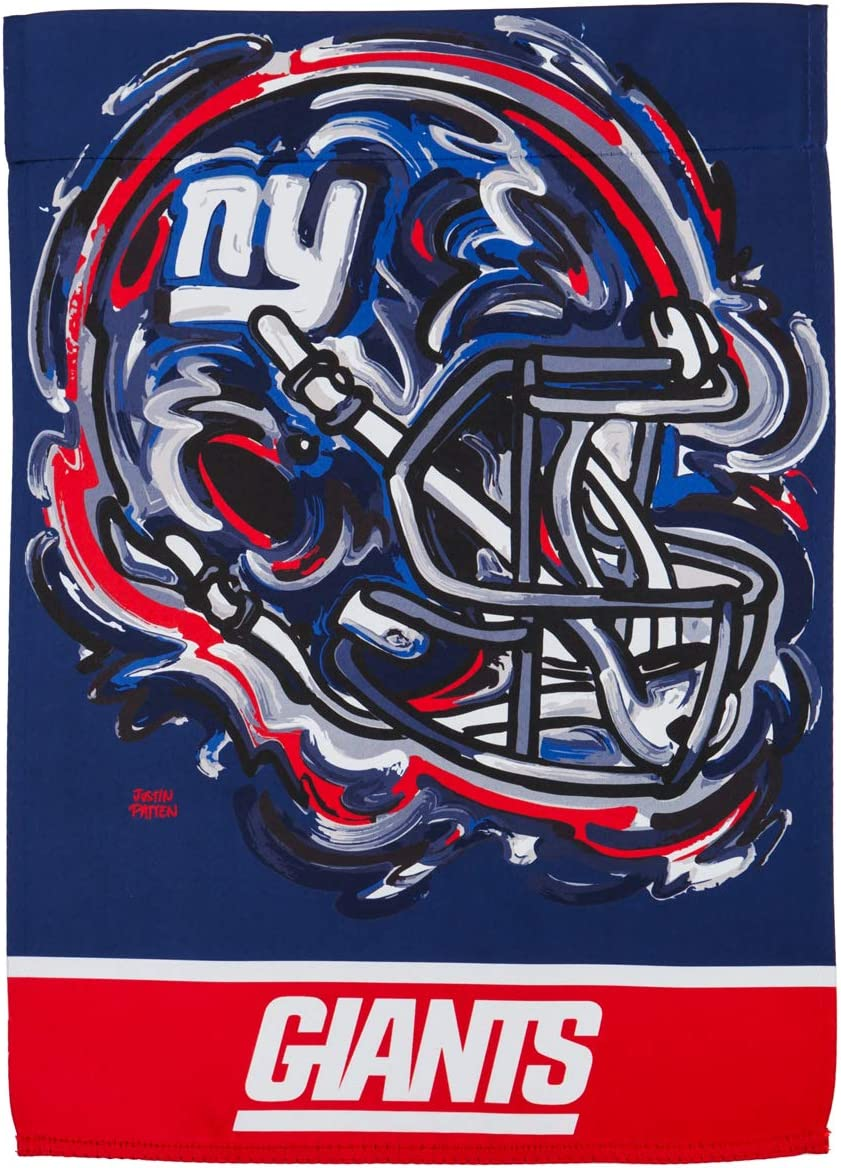 Team Sports America New York Giants Suede Garden Flag 12.5 x 18 Inches Justin Patten