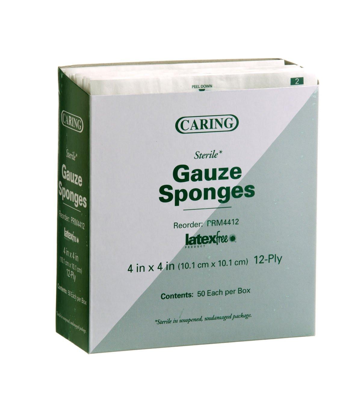 Medline Gauze Sponge Sterile 12 Ply, 1200 Count