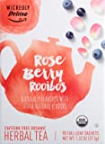 Wickedly Prime Organic Herbal Tea, Rose Berry Rooibos Premium Tea Sachets, 15 count