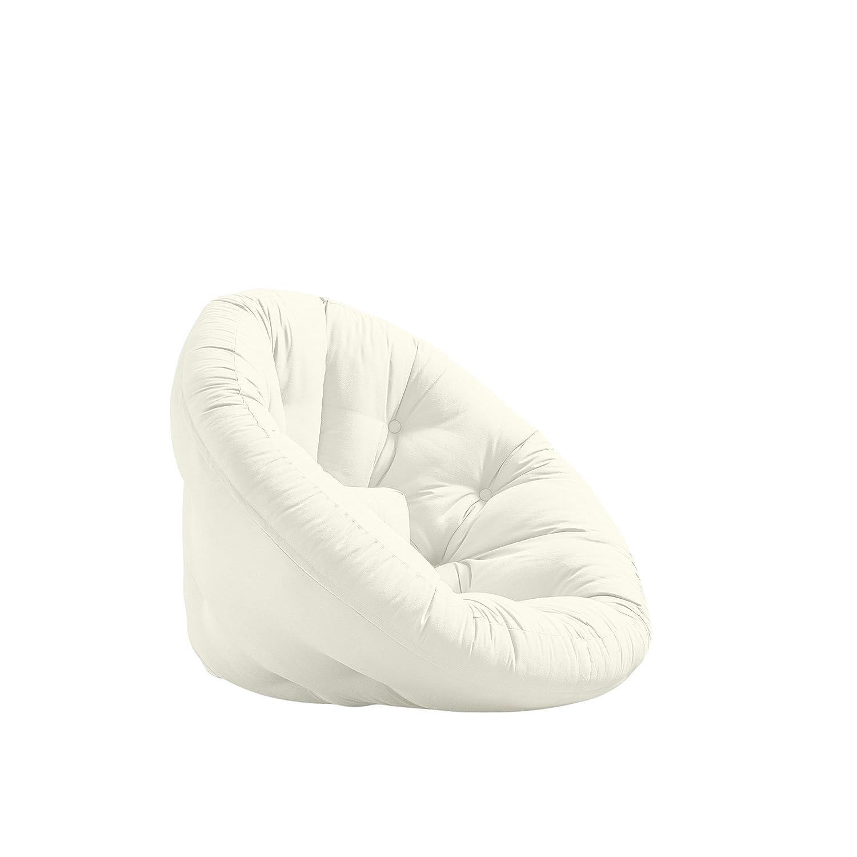 Karup Nido Futon Chair Sedia, Cottone/Poliestere, Naturale 901, 85x90x75 cm NIDO1901