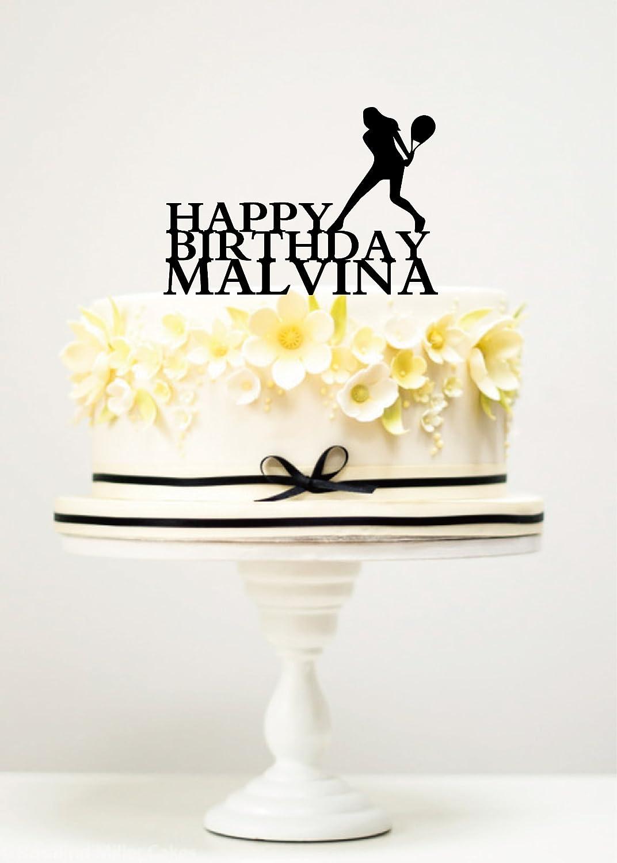 Female Tennis Player Cake topper,Birthday Celebration 3mm acrylic.120mm.474