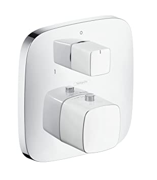 Hansgrohe 15771400 PuraVida termostato empotrado con llave de paso e inversor, blanco/cromo: Amazon.es: Bricolaje y herramientas