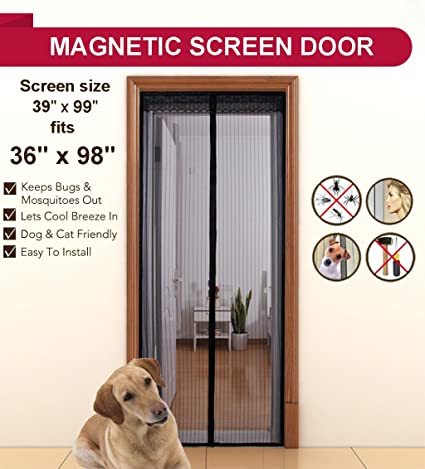 Aloudy Magnetic Screen Door Fits Doors Up to 36u0026quot; x 98u0026quot; MAX Full  sc 1 st  Amazon.com & Aloudy Magnetic Screen Door Fits Doors Up to 36