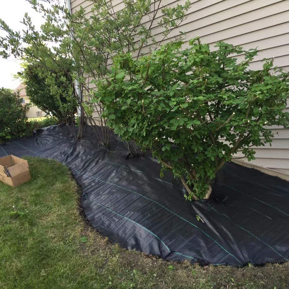 3ft x 330ft OriginA Garden Landscape Fabric Pro Commercial Weed Barrier Heavy Duty Driveway Gardening Mat Polypropylene Ground Cover Flower Vegetable Raised Beds Lawn Yard Landscaping Cloth Black