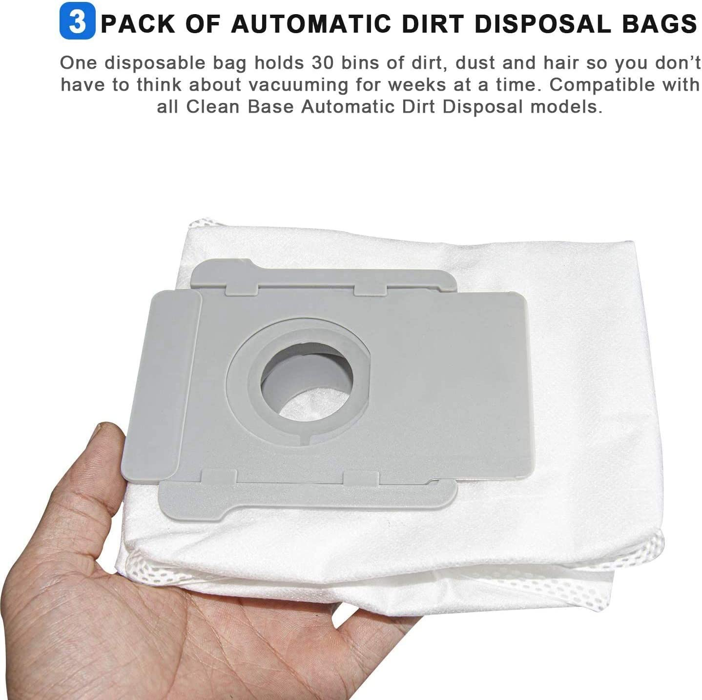 Binchil 4 Pcs Dirt Disposal Bags/&Filter Replacement Parts for I7 I7+//Plus Clean Base Robot Vacuum Cleaner,4640235