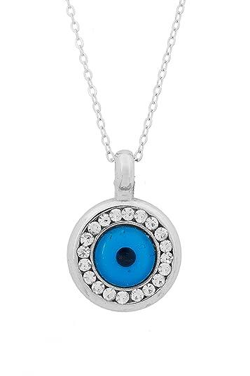 femme handicaps structurels acheter pas cher Remi Bijou collier avec pendentif 'Oeil Bleu' Nazar Boncuk ...