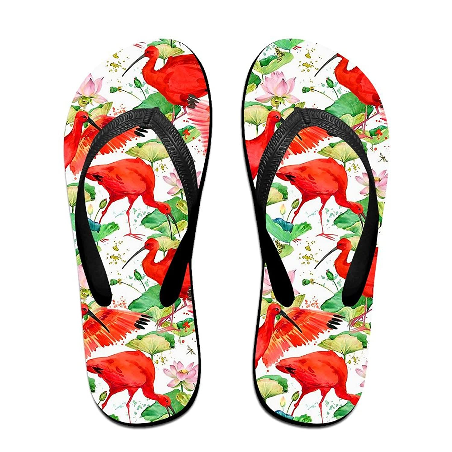 639223ed2a61 Flaming Flamingos Flip Flops Fashion Sandals Multicolored Homewear Slippers  For Men Women