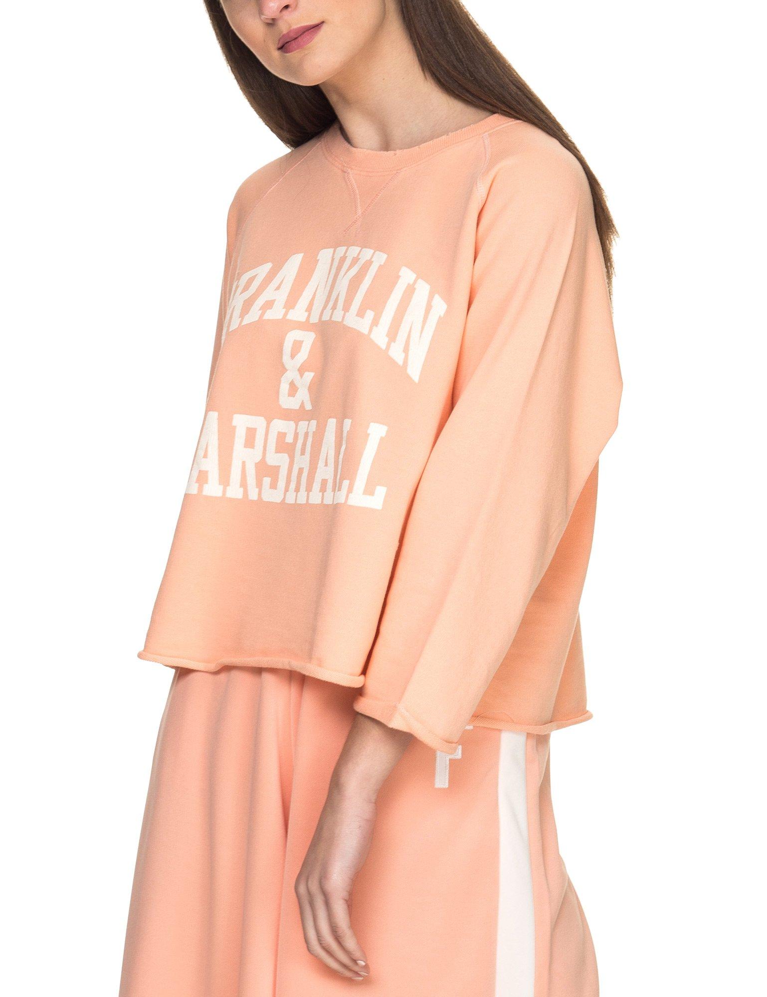 Franklin & Marshall Women's Women's Orange Sweatshirt In Size S Orange