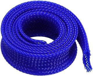 sourcingmap® 12mm dia stretto PET intrecciato guaina espandibile cavo avvolgere blu reale guaina 50CM