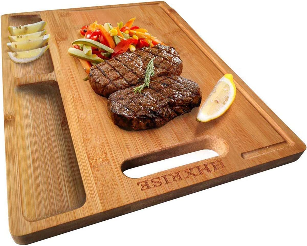 Solid Rubber Wood Rectangular Dicing Board Bread Roll Cutting Meat Chopping Food
