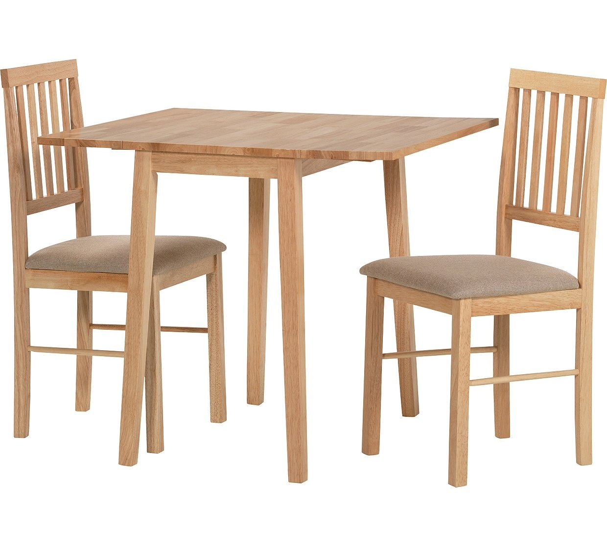 HOME Kendall Drop Leaf Ext Dining Table 2 Chairs Natural Amazoncouk Kitchen Home