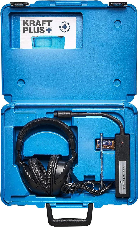 KRAFTPLUS® K.990-3500 Estetoscopio electrónico de mecanico / Detector de fallos - 4 piezas