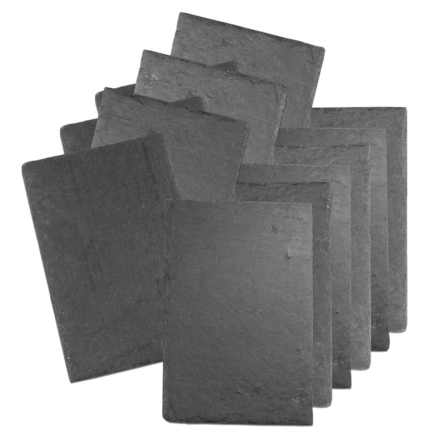 Cohas Slate Food and Cheese Platter Restaurant Pack includes 12 Medium 8 by 12 Inch Boards, Undrilled Gray Slate