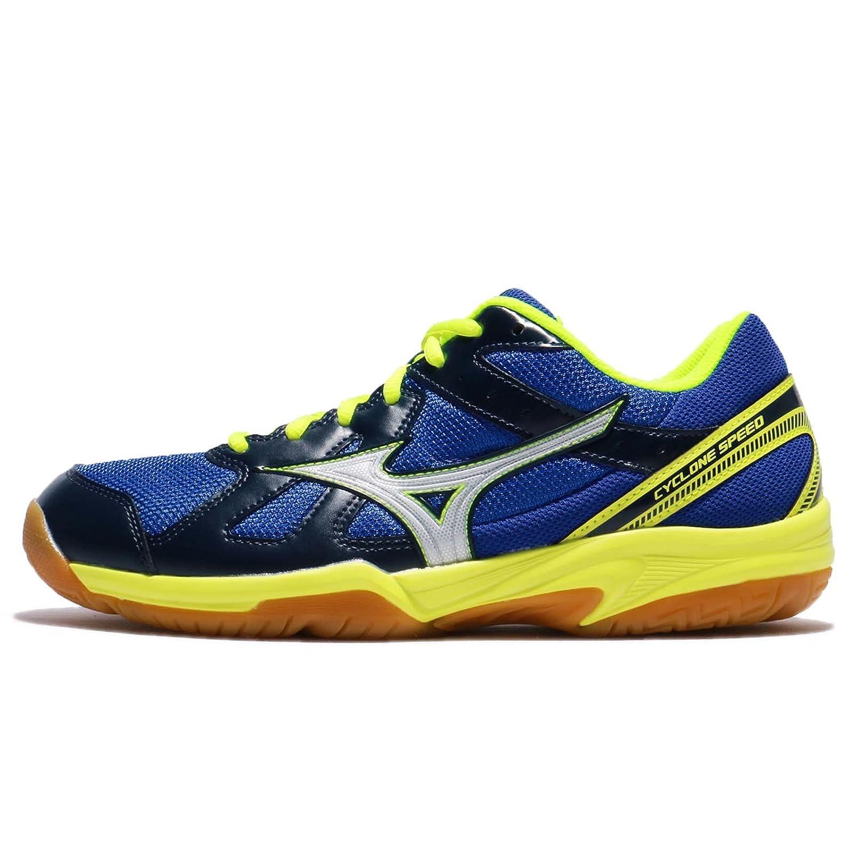 (ミズノ) サイクロン スピード メンズ バドミントン シューズ Mizuno Cyclone Speed V1GA1780-23 [並行輸入品] B078SMQ25P 27.0 cm Blue/Grey/Yellow