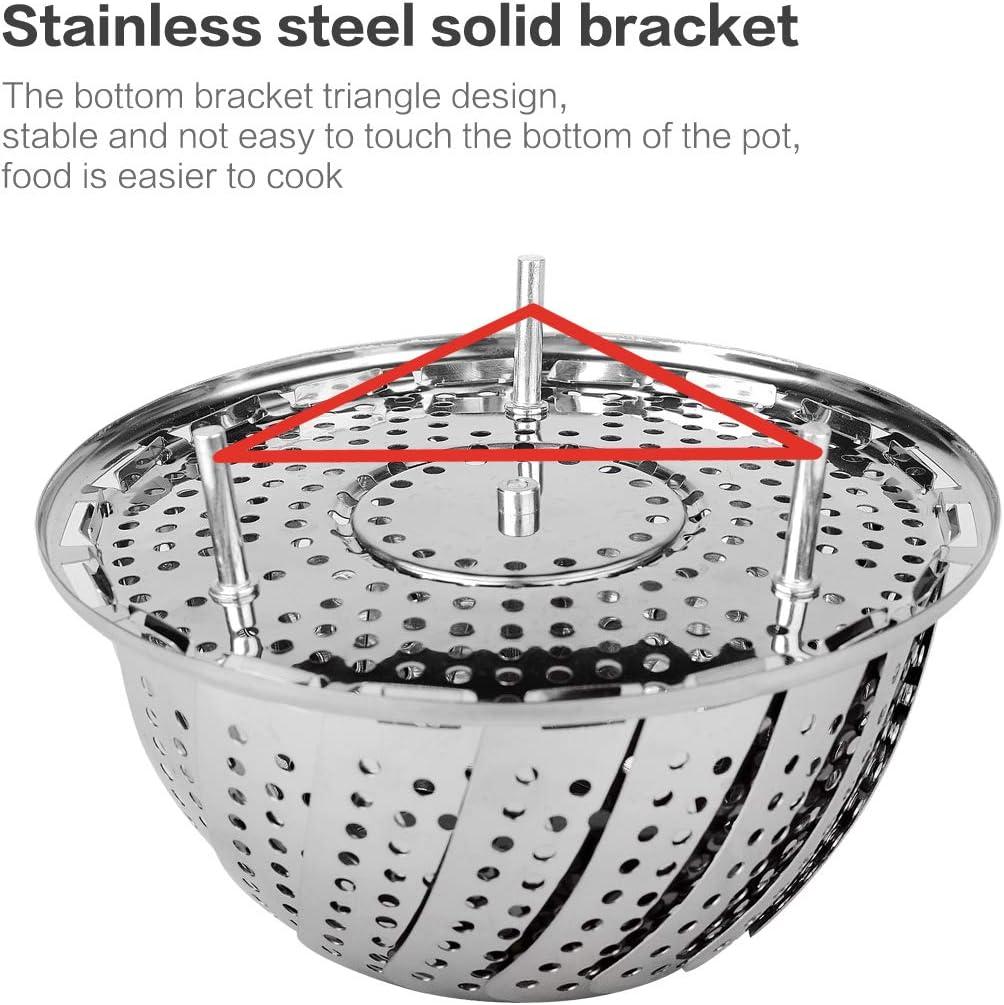 Small Stainless Steel Vegetable Steamer Folding Steamer Basket//Insert for Pans /& Pressure Cookers