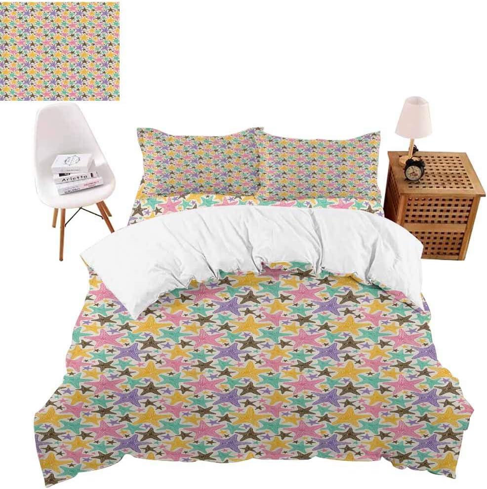 vroselv-home Colección de Ropa de Cama para Dormitorio, diseño de Arco Iris, 4 Piezas, Funda de edredón tamaño Queen/sin edredón