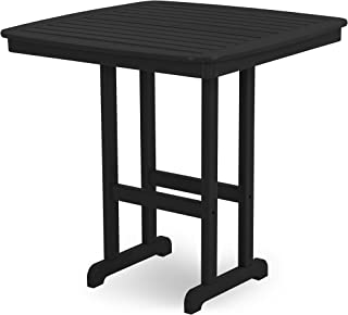 product image for POLYWOOD NCBT44BL Nautical Bar Table, 44-Inch, Black