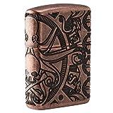 Zippo Nautical Scene Design Pocket Lighter (Color: Antique Copper Nautical, Tamaño: One Size)