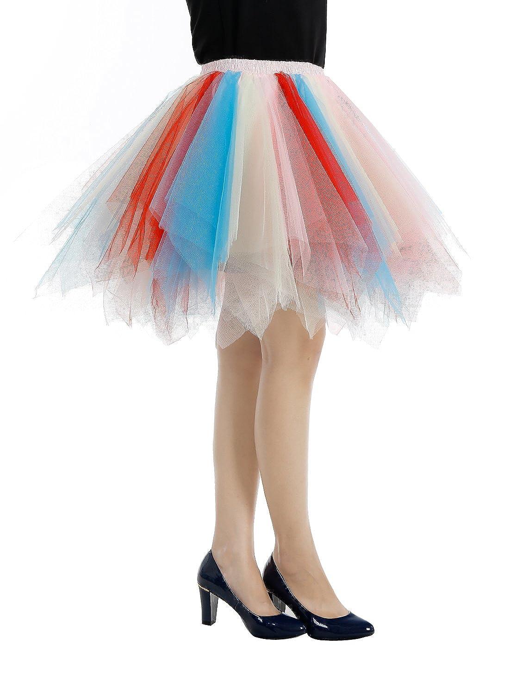c5542e9d51baa Bbonlinedress Ballet Tutu en Tulle Jupe Courte Style années 50  Amazon.fr   Vêtements et accessoires