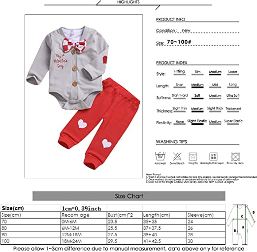 Bekleidungssets Baby puseky Baby Jungen My 1st Valentinstag ...