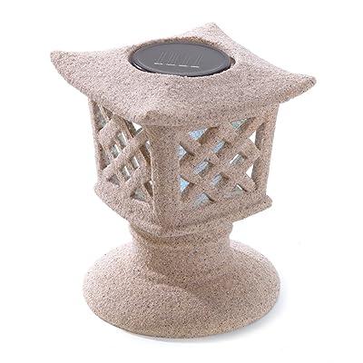Gifts & Decor Solar Powered Ceramic Outdoor Pagoda Lamp : Outdoor Figurine Lights : Garden & Outdoor