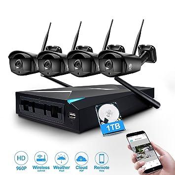 Amazon.com: Security System, JOOAN TC-734-4N 960P Wireless ...