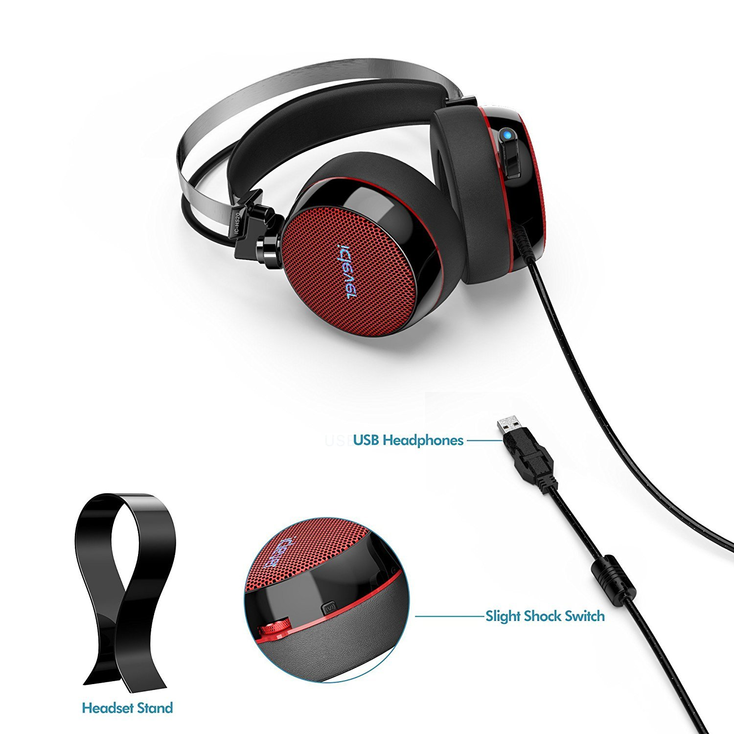 Zip Up Headphones Amazoncom Iclever 71 Surround Sound Gaming Headphones With