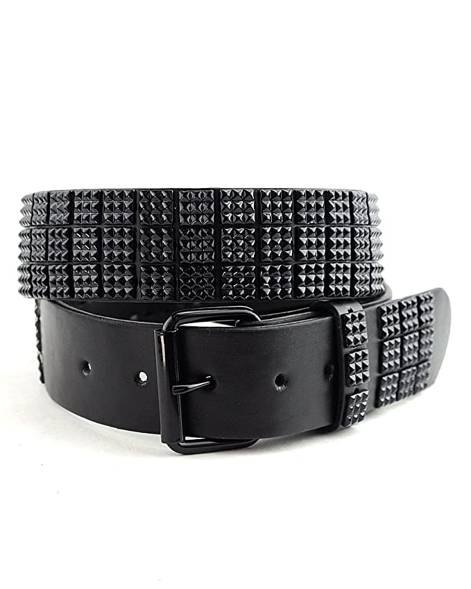 NYFASHION101 Snap On 80s Punk Style Micro Mini Stud Belt-OR-M