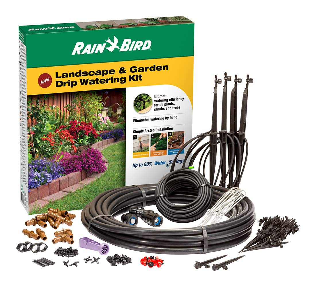 Rain Bird LNDDRIPKIT Drip Irrigation Landscape & Garden Watering Kit with Drippers, Micro-Bubblers and Micro-Sprays by Rain Bird