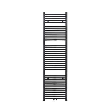 VILSTEIN Bad Heizkörper, Flach, Anthrazit, Seitenanschluss und  Mittelanschluss, 1800x500 mm