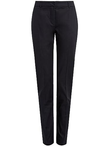 oodji Collection Mujer Pantalones Clásicos Ajustados