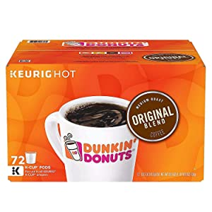 Dunkin Donuts Keurig Single-Serve K-Cup Pods - Medium Roast Single Serve 72 Count (72 K-Cups)