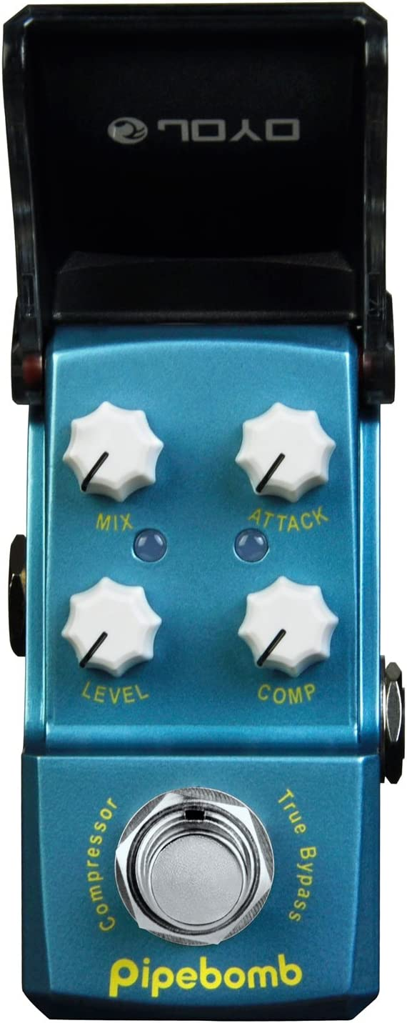 JOYO JF-312-PipeBomb-Compressor - Pedal de efecto compresión para guitarra, color azul