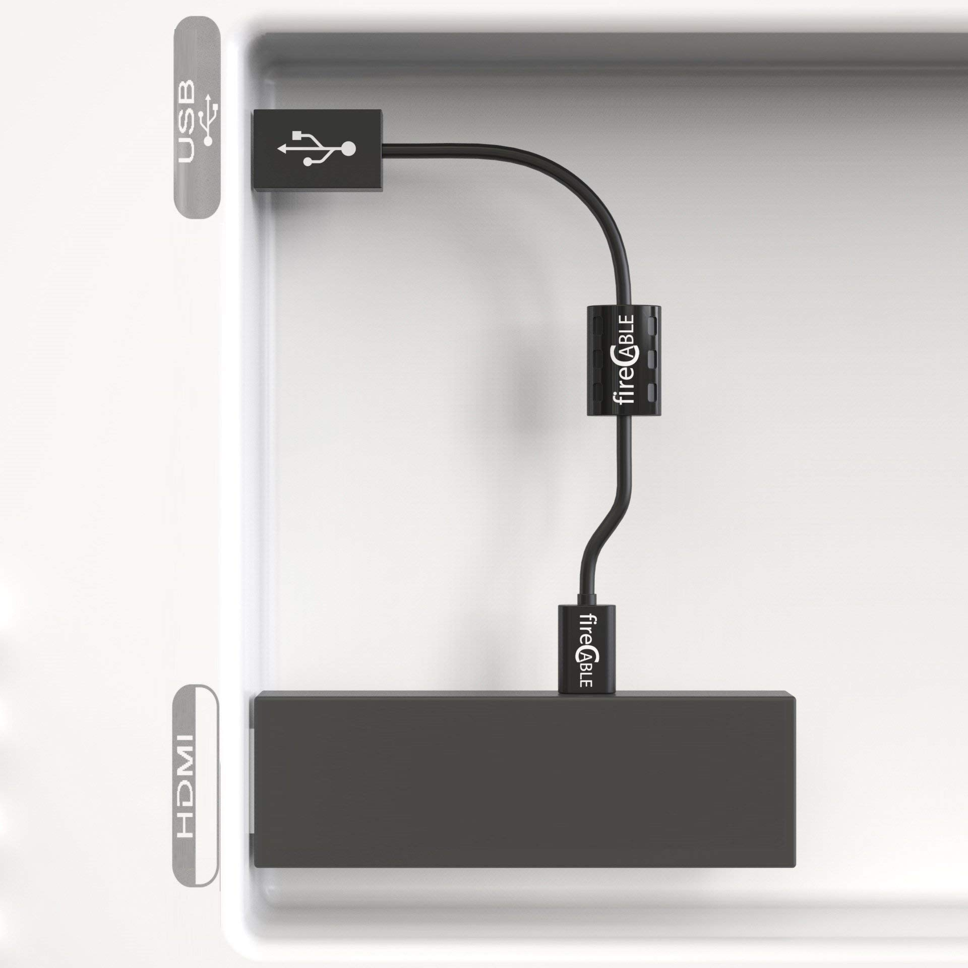fire-Cable Power Adapter - Micro USB Cable for Streaming Sticks   Powers Device from Flat Screen TV