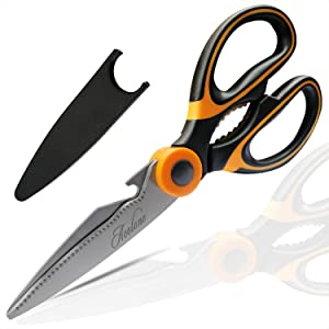 Kitchen Shears, Acelone Premium Heavy Duty Shears Ultra Sharp Stainless Steel Multi-function Kitchen Scissors for Chicken/Poultry/Fish/Meat/Vegetables/Herbs/BBQ