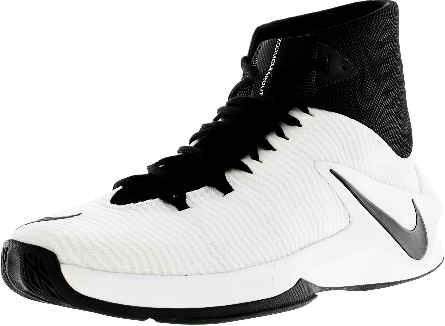 Nike Men's Zoom Clear Out TB Basketball Shoes B01MD2EF45 12 D(M) US Black / Black - White