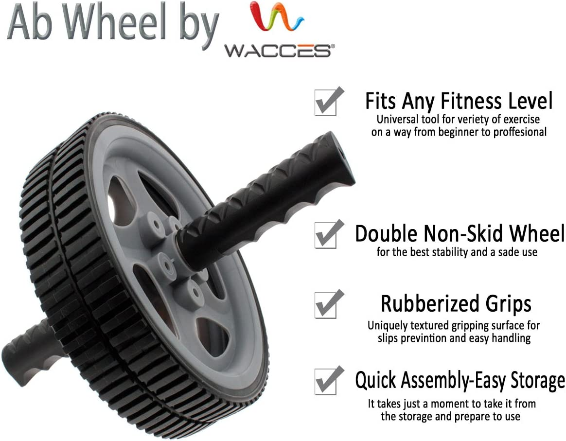 Wacces AB Power Wheel Roller – Exercise Equipment for Your Home Gym