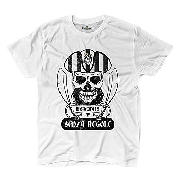 Camiseta camiseta hombre fútbol pirata Torino bianconeri Tifosi ultras Fans Sport, blanco