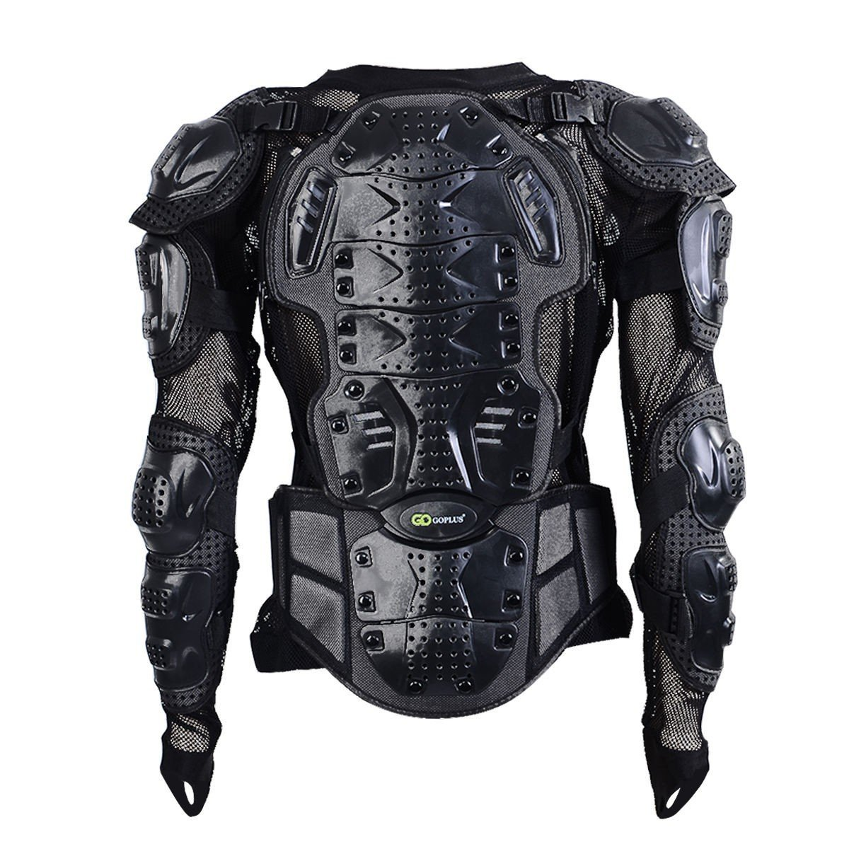 Motorcycle Motocross Clothing Racing Men's Armor Spine Chest Protective Jacket Black