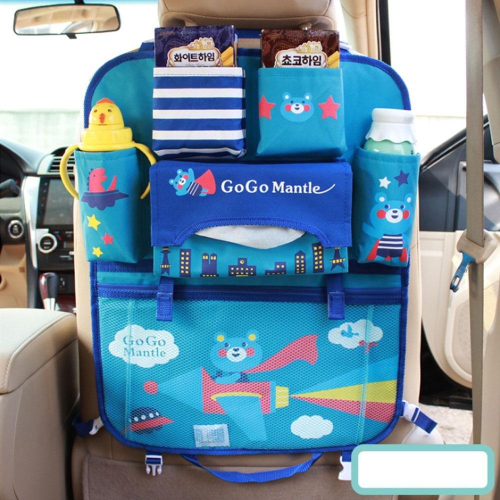 motif dessin anim/é Teepao Organiseur pour si/ège arri/ère de voiture pour enfant et b/éb/é id/éal pour le voyage le rangement des jouets et la protection du si/ège