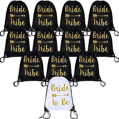 12 bolsas con cordón para novia y novia, bolsa de regalo de ...