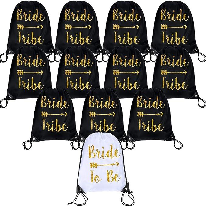 Amazon.com: Bolsas de regalo con cordón para novia y novia ...