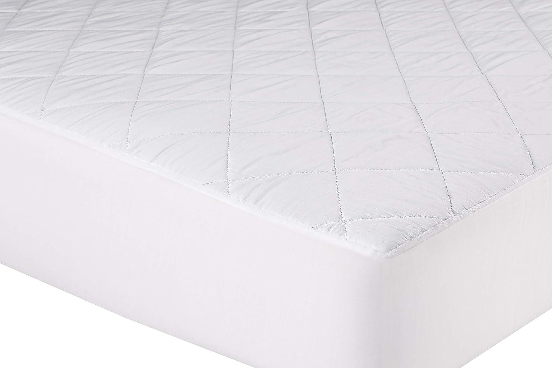 Protector de colchón/Cubre colchón ajustable Acolchado, Transpirable e Hipoalergénico. (105x190 cm)