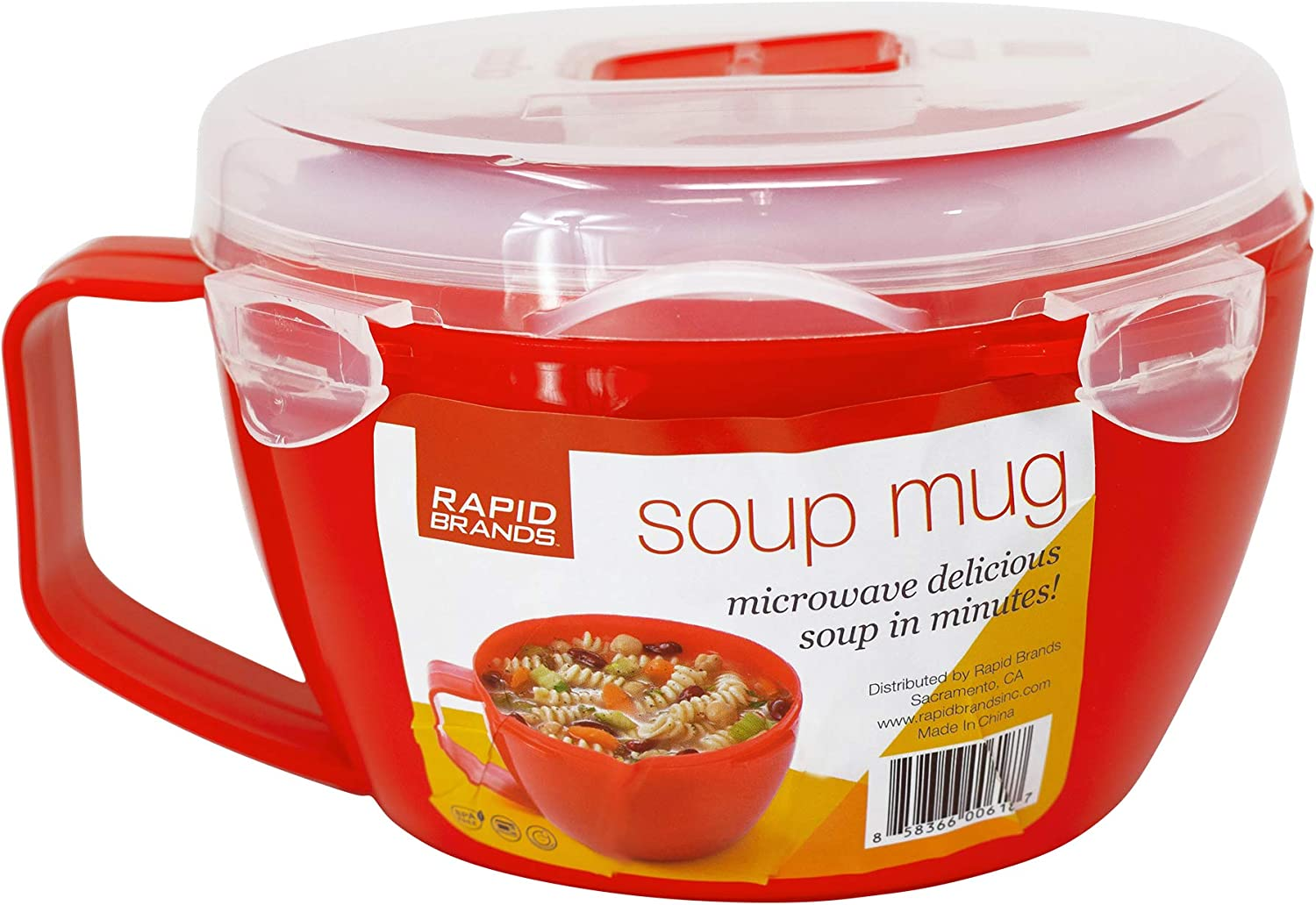 Rapid Noodle/Soup Bowl  Microwave Soup & Noodles in Minutes   Perfect for Dorm, Small Kitchen, or Office   Dishwasher-Safe, Microwaveable, & BPA-Free