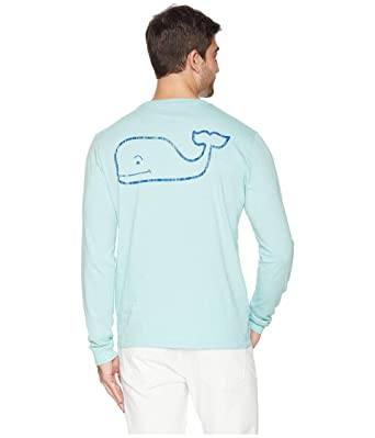 138efde57 Vineyard Vines Vintage Whale Long Sleeve Pocket Tee (Capri Blue, X-Small)  at Amazon Men's Clothing store:
