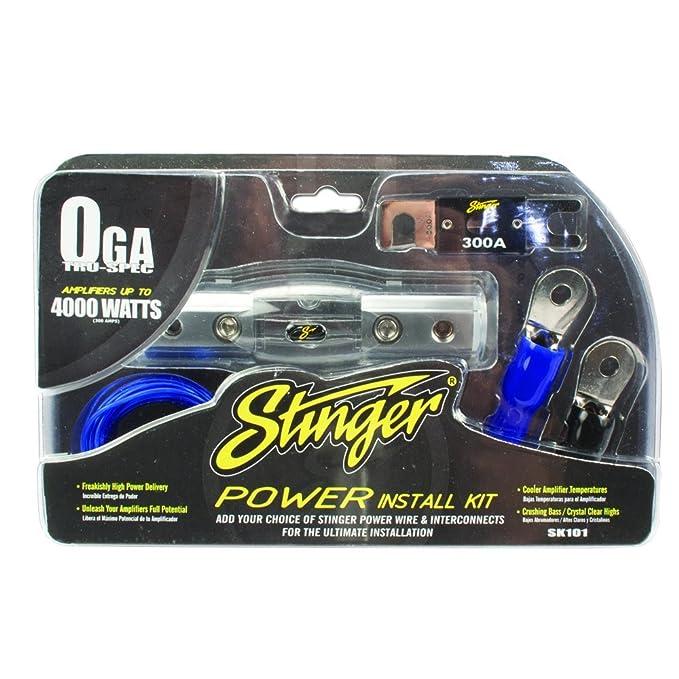 Amazon.com: SK101 4000 vatios 1/0-Gauge Car Kit Amplificador de ...
