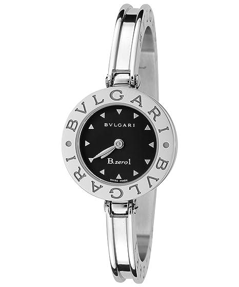 Bulgari Mujer B. Zero1 negro Dial pulsera de acero inoxidable