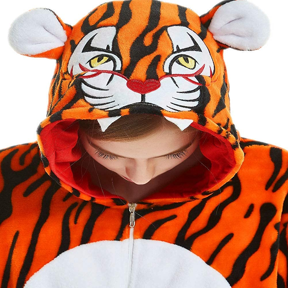 qqonsie Unisex Adult Teens Onesie Pajamas One Piece Animal Halloween Costumes