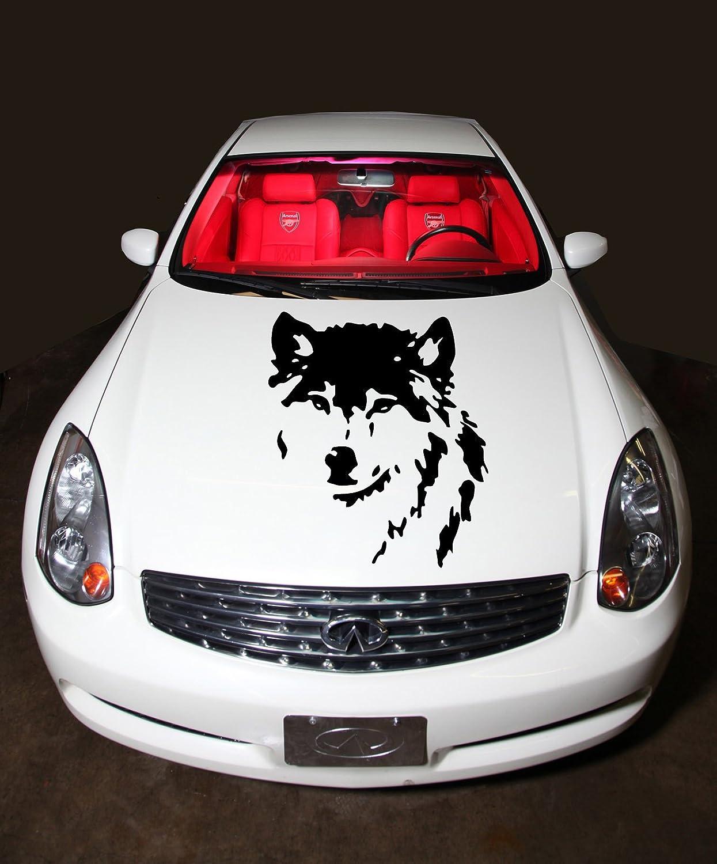 Amazon com car hood vinyl sticker decal graphics wild wolf animal d1084 home kitchen