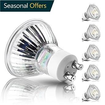 GU10 LED bombillas, 50 W bombillas halógenas equivalentes, 5 W, 500lm, 40